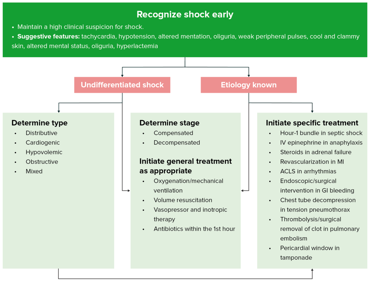 Approach to shock - recognize shock early