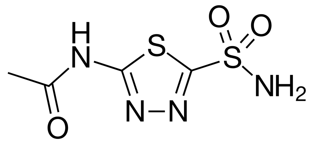 Chemical Structure of Acetazolamide