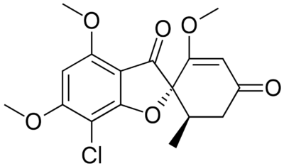Chemical structure griseofulvin