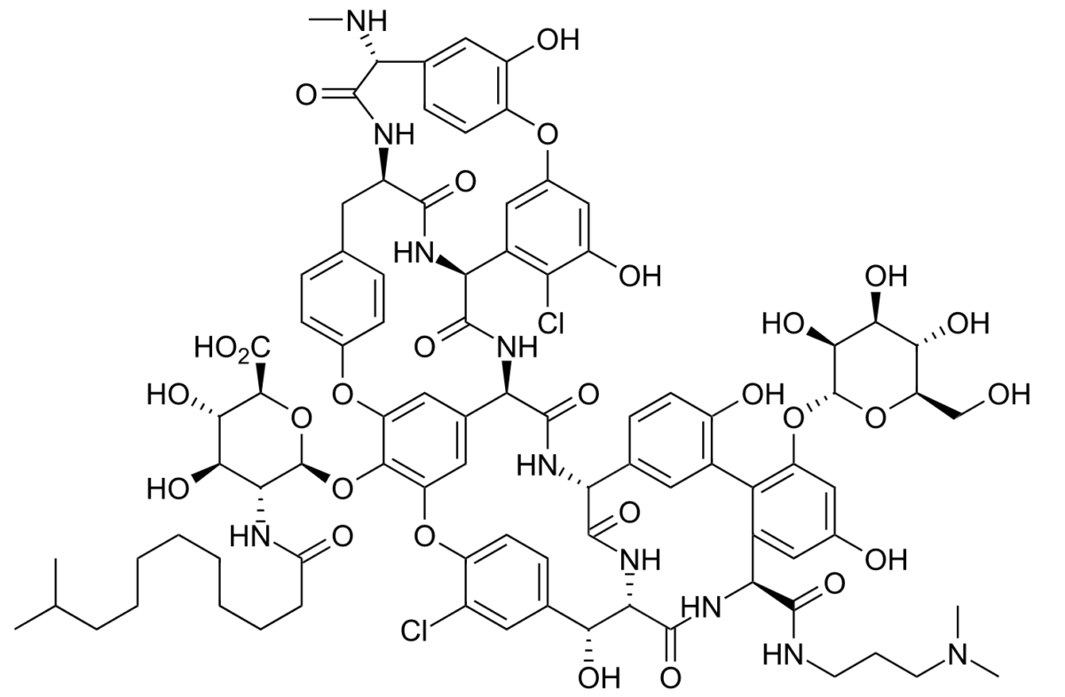 Chemical structure of dalbavancin