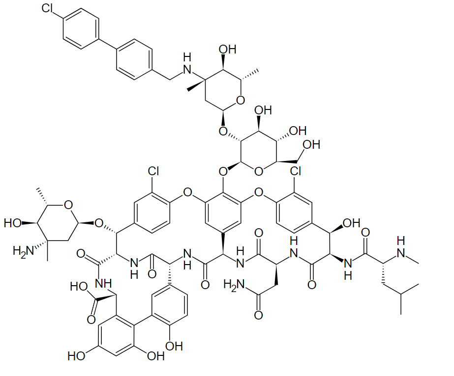 Chemical structure of oritavancin