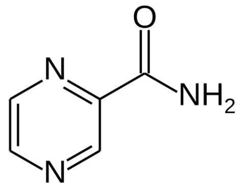 Chemical structure of Pyrazinamide antimycobacterial agents