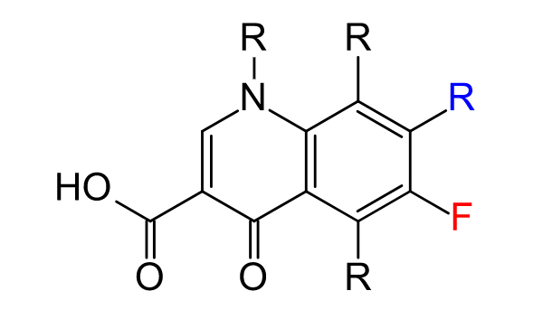 Chemical structure of Quinolone