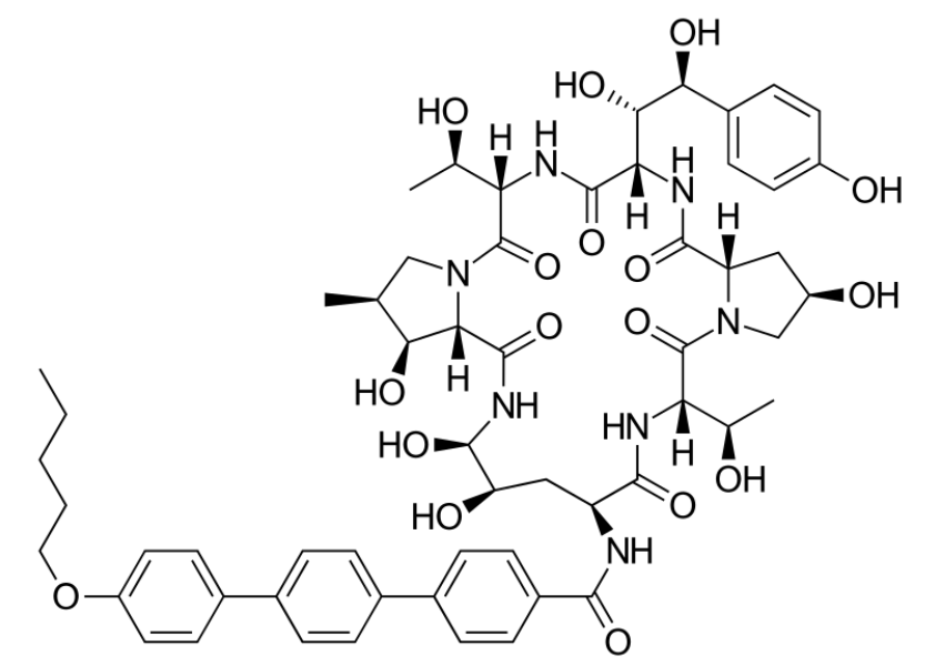 Chemical structure of anidulafungin
