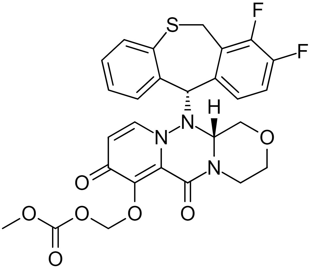 Chemical structure of baloxavir