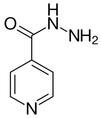 Chemical structure of isoniazid