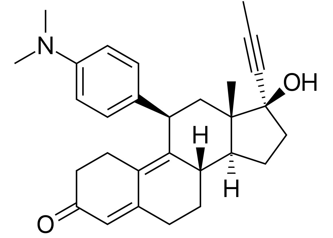 Chemical structure of mifepristone