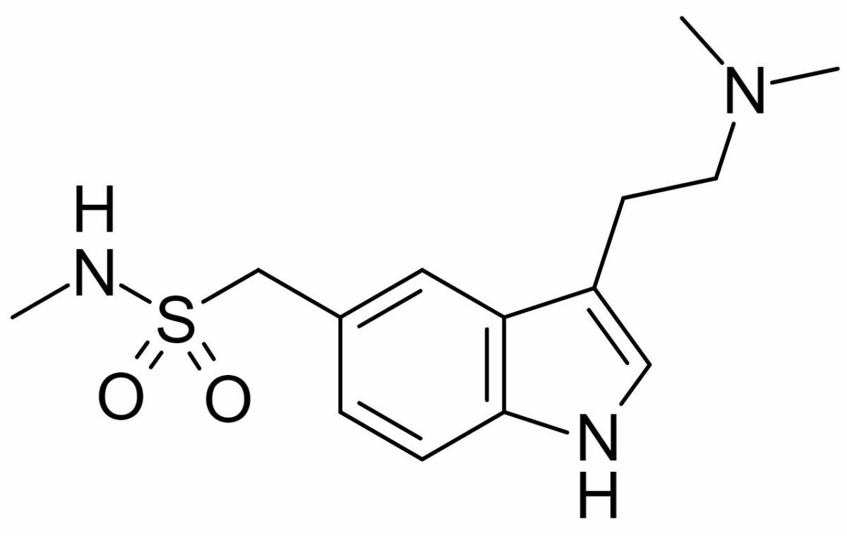 Chemical structure of sumatriptan