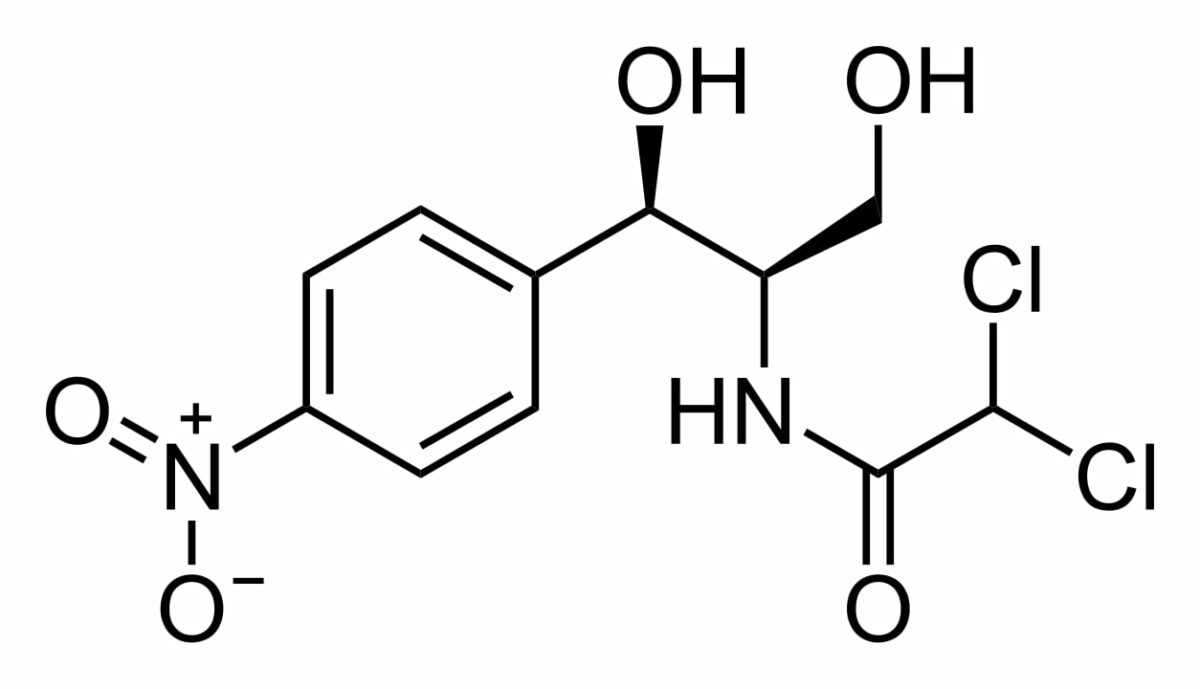 Chloramphenicol chemical structure