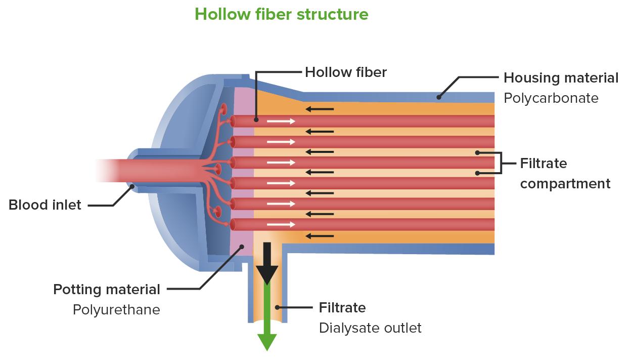Hemodialysis filter
