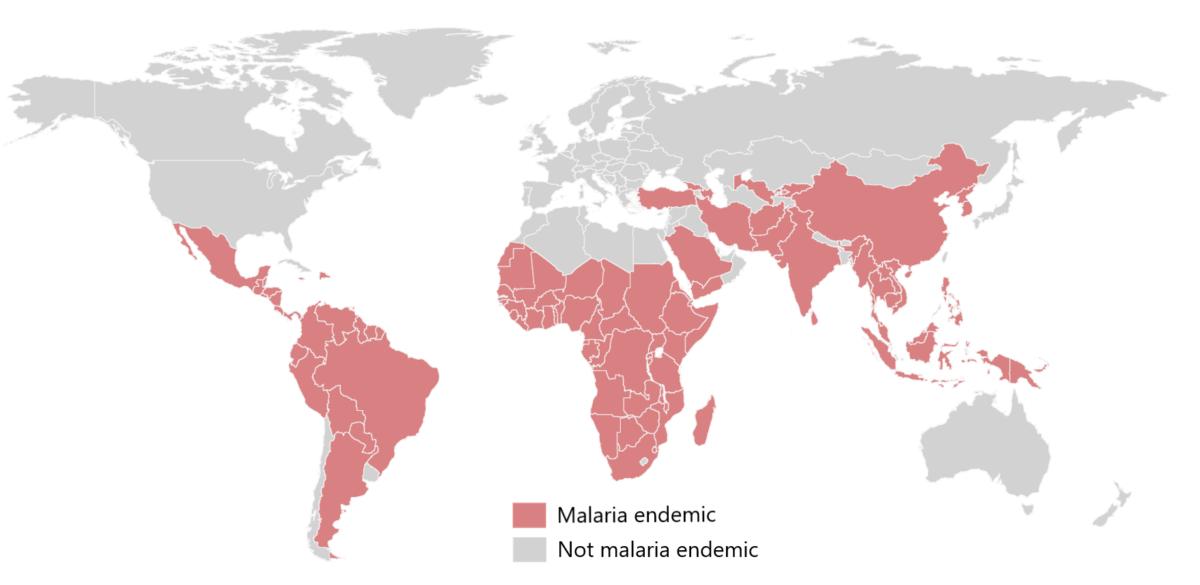 Malaria endemic regions