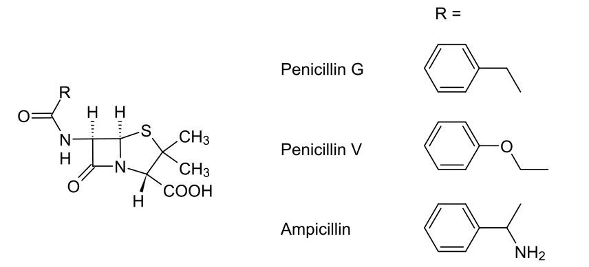 Penicillin chemical structure