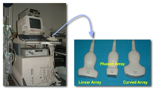 Sonography system and Typical transducers (Ultrasound Sonography)