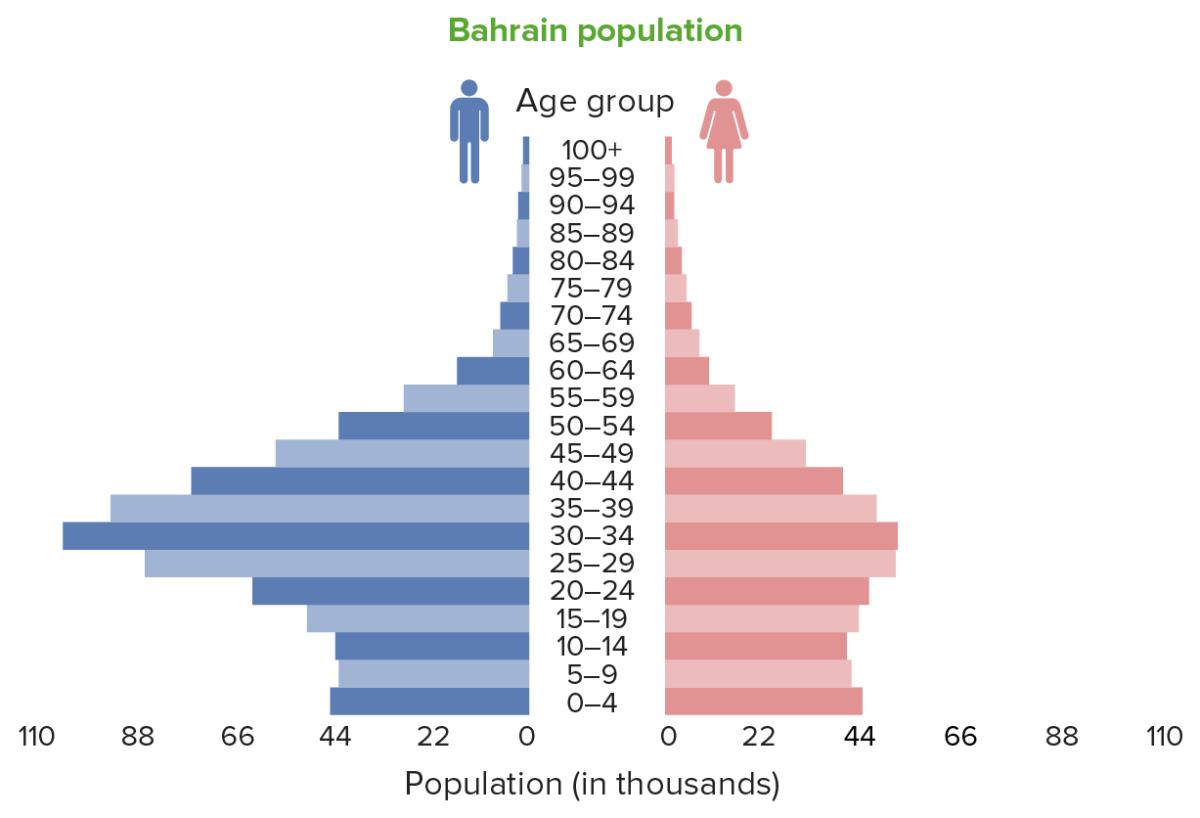 Population pyramids Bahrein