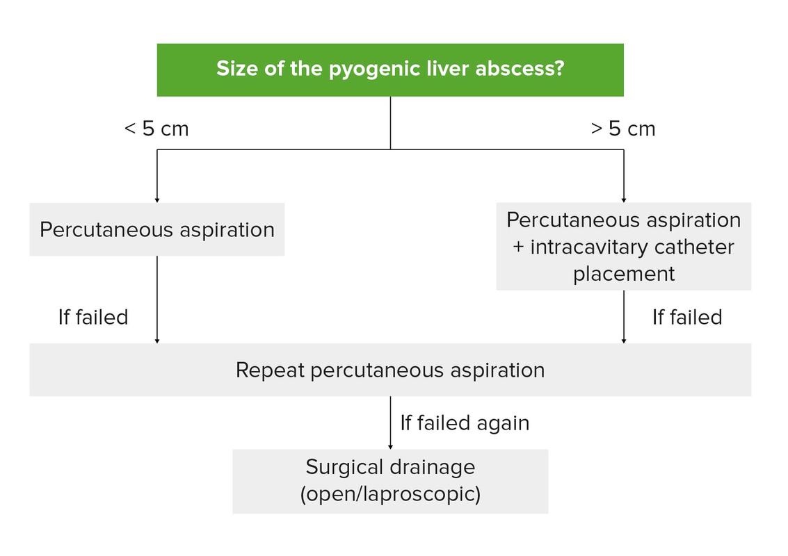 Pyogenic liver abscess management