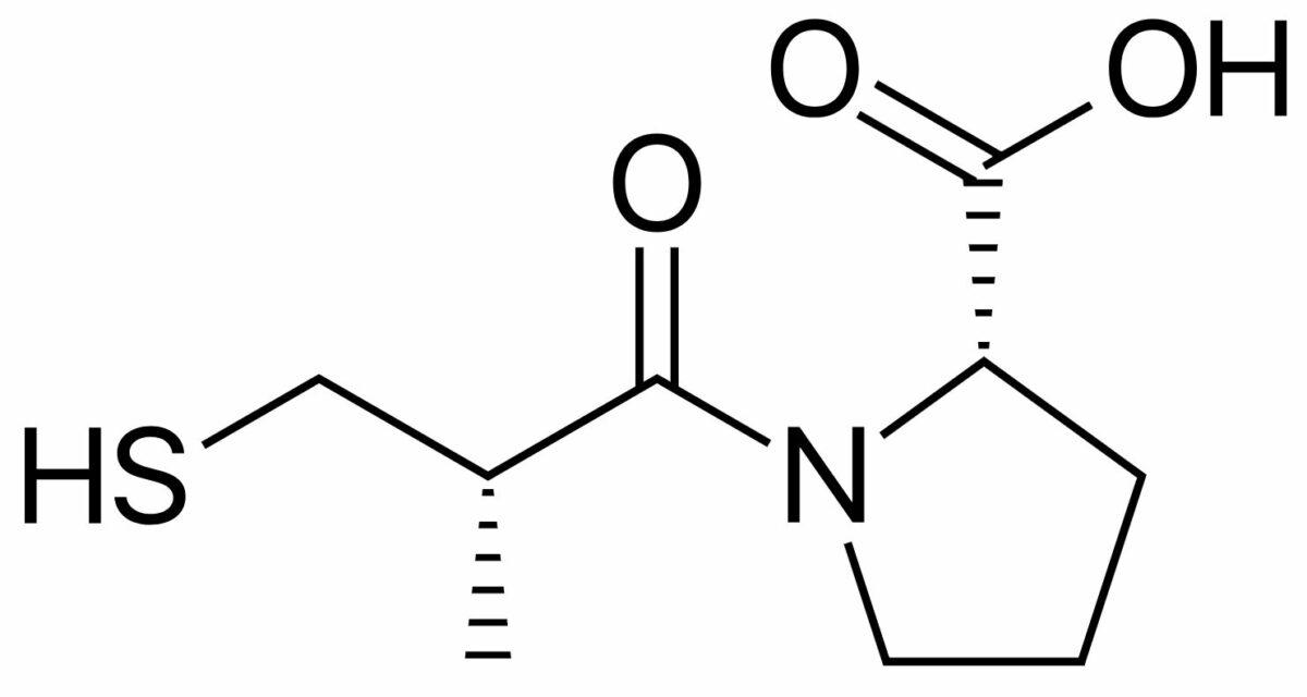 Skeletal formula of captopril