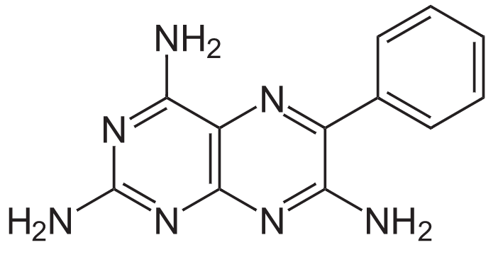 Structure of triamterene