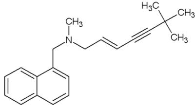 Terbinafine chemical structure