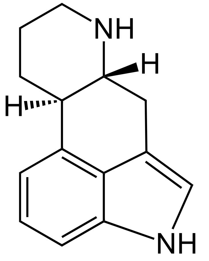 Tetracyclic ergoline nucleus